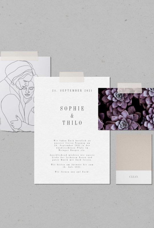 Hochzeitspapeterie Florales Design Einladung Grafikdesign Juliane Finkenberger