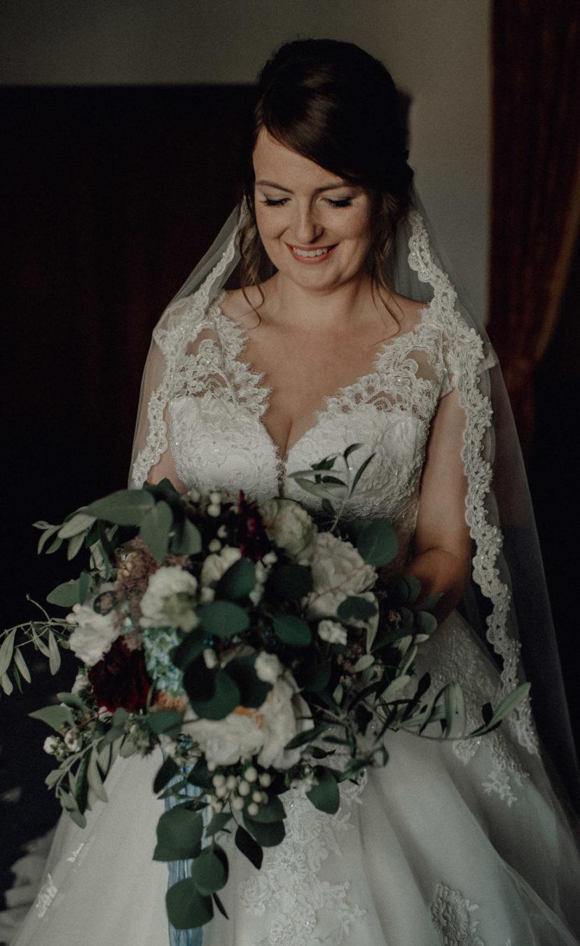 Brautfoto Brautstrauß Hochzeit Pfalz Mannheim Heidelberg Juliane Finkenberger