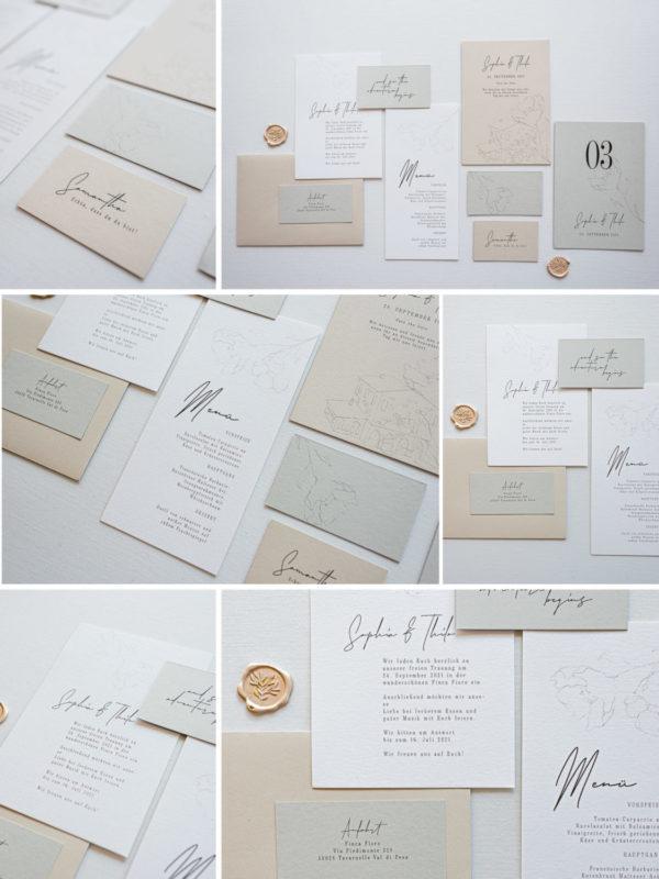 Hochzeitspapeterie Hochzeitseinladung Grafikdesign Papeterie Hochzeitsdekoration Mannheim Frankfurt Juliane Finkenberger